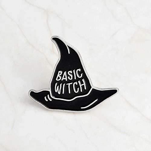 LFDHZ Basic Hut Pin Broschen Witchcraft Pagan Magic Anstecknadeln Halloween Schmuck Broschen für Frauen Female Basic Hexe (Halloween Hexe Magic Cartoon)
