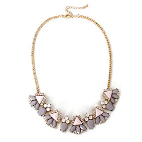 Wenbuhuo Jeweled Halskette Kragen High-End Joker Halskette Zubehör Anhänger,A