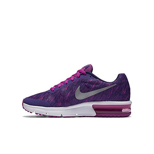 Nike Air Max Sequent Print (Gs), Chaussures de Sport Fille Bleu