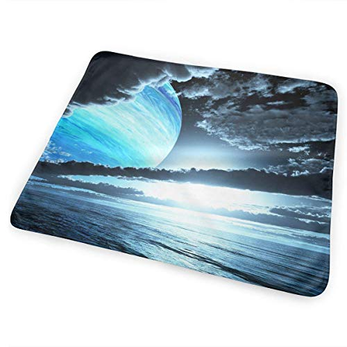 Voxpkrs Wickelunterlage Windelwechselmatte Blue Planet Clouds Ocean 25.5 x 31.5 Inches - Bio Blue Wc