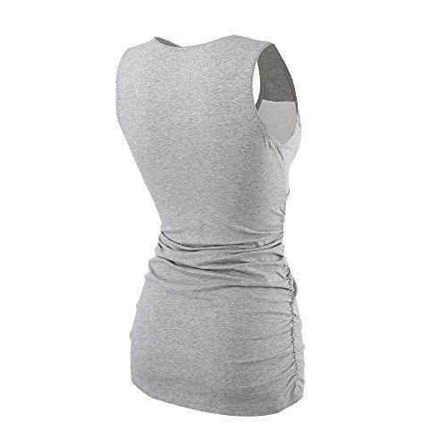 Still-Shirt/ Umstandstop, ZUMIY® Schwangeres Stillen Nursing Schwangerschaft Top Umstandsmode Unterwäsche Grey