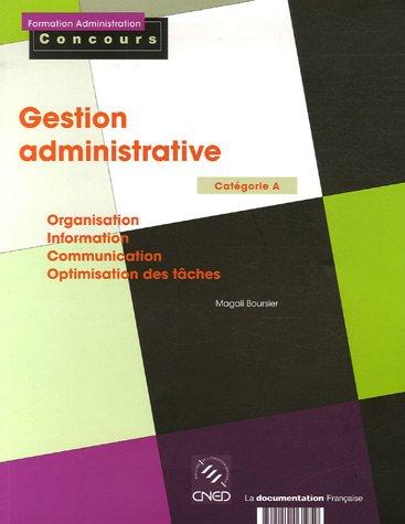 Gestion administrative - Catégorie A -
