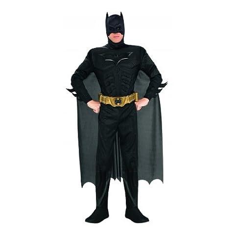 Batman - The Dark Knight Rises Deluxe Kostüm mit Muskeln, Overall, Umhang, Maske, Gürtel - M (Bane Kostüm Uk)