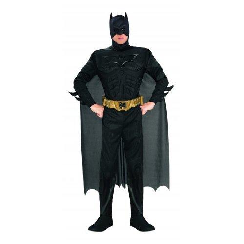 Catwoman Robin Batman Kostüme (Batman - The Dark Knight Rises Deluxe Kostüm mit Muskeln, Overall, Umhang, Maske, Gürtel -)