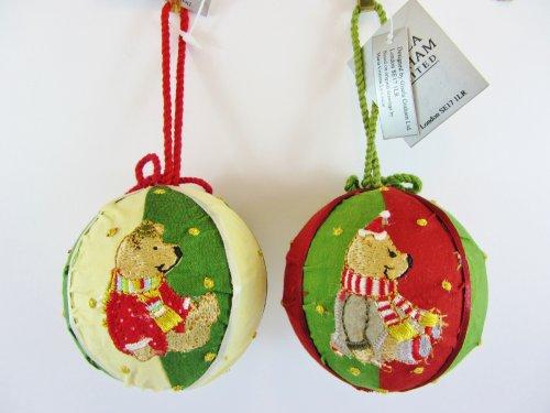gisela-graham-lot-de-2-nuit-avant-noel-elephant-et-ours-en-peluche-en-tissu-decorations-de-noel