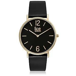 Ice-Watch City Tanner Black Gold - Reloj de Pulsera para Mujer con Correa de Piel de ICE-Watch