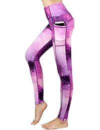 Munvot Legging Capri Pantacourt de Sport Femme Coupe Genoux Amincissant -  avec Poche Yoga Fitness Jogging 1a994f2cab6