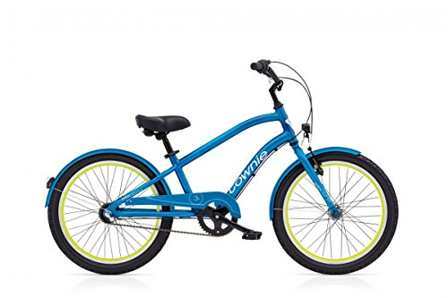 Electra Townie 3i EQ 20 Zoll Kinder Fahrrad 3 Gang Jungen Beach Cruiser Kids Rad Blau Beleuchtung, 528770 (Rad-untersetzer)