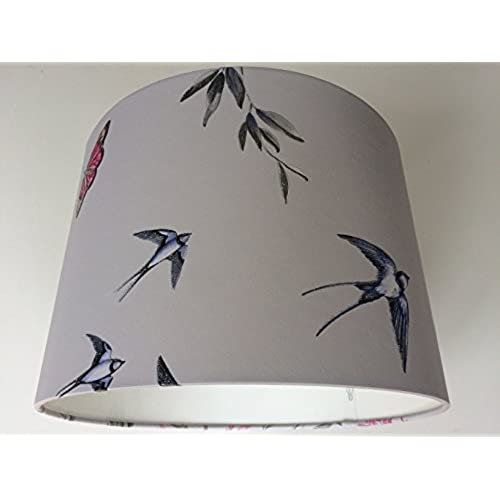 Bird lampshade amazon 1230 cm halcyon days lavender wallpaper light shade handmade mozeypictures Choice Image