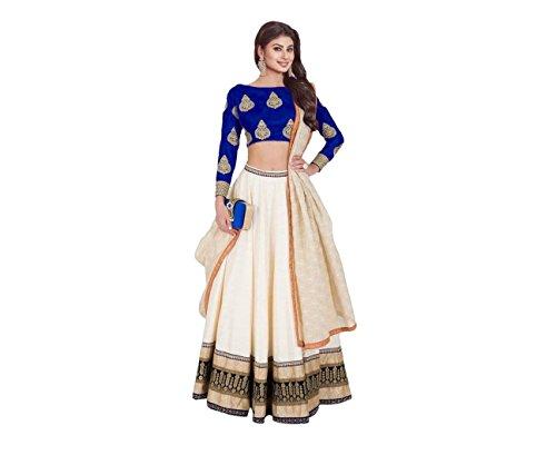 S R Fashion Women's Faux Georgette Lehenga Choli (SRF-652365, Multi Color) (Royal...