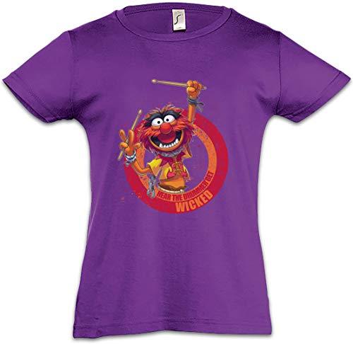 Wicked Drummer Camiseta para Niñas Chicas niños T-Shirt Schlagzeuger