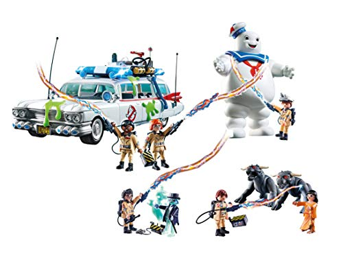 Outletdelocio Set Completo Playmobil Ghostbusters. Coche Cazafantasmas, Marshmallow, Spengler, Vekman. 126 Piezas.