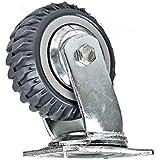 tcatec Ruedas giratorias de goma, 10,16 cm, 4 unidades, giratorio,