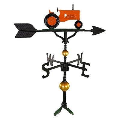 Montague Metall Produkte 32Deluxe Wetterfahne mit Orange Traktor Ornament von Montague Metall Produkte