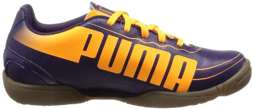 Puma evoSPEED 5.2 IT Jr 102889 Unisex-Kinder Fußballschuhe Violett (blackberry cordial-fluo orange-fluo pink 02)
