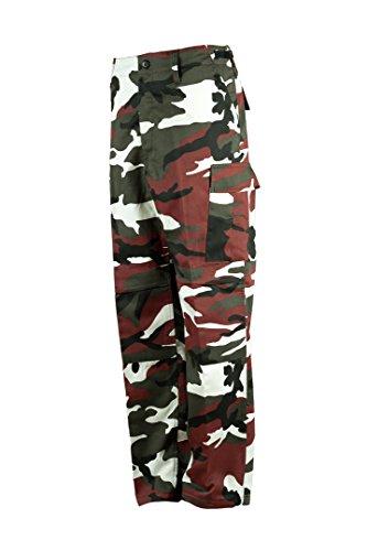 US Army Cargo Hose BDU Freizeithose Feldhose (M, Red-Camo) (Camo Hose)