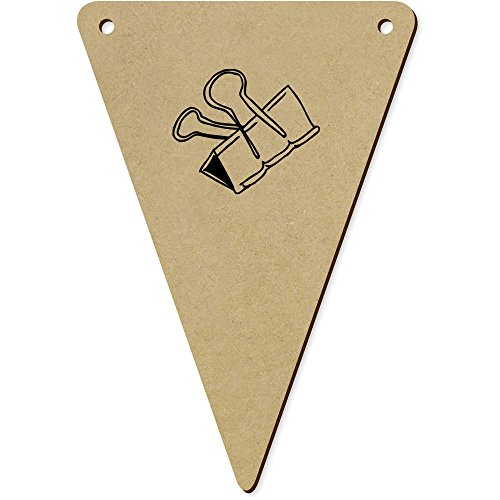 Azeeda 5 x 140mm 'Pince à Dessin' fanions Triangles en Bois (BN00024945)