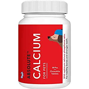 Drools Absolute Calcium Tablet- Dog Supplement, 50 Pieces