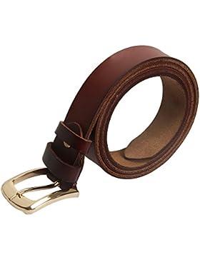 Sidiou Group Cinturón de cuero genuino para las mujeres Pin Hebilla de cuero de vaca de cuero de las mujeres Cinturones