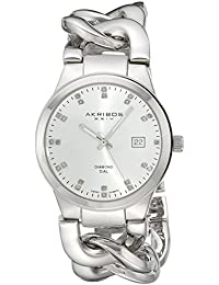 Akribos XXIV AK608SS - Reloj de cuarzo para mujeres, color plata