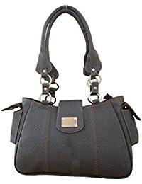Spice Art Women's Grey Spacious Leatherite Handbag