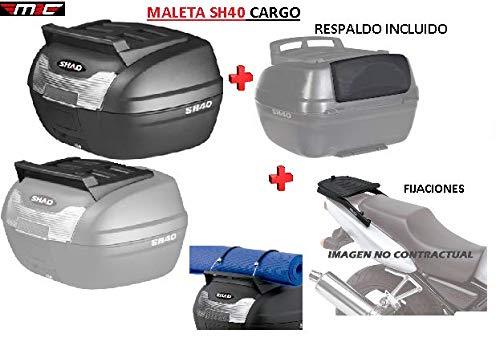 SHAD Kit BAUL Maleta Trasero SH40 Cargo litros + FIJACION