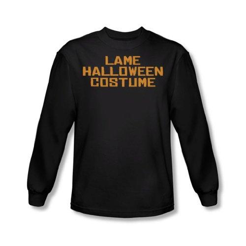 Lame-Halloween-Kostüm - Herren Langarm T-Shirt in Schwarz, XX-Large, Black (Sleeve Long Lame)