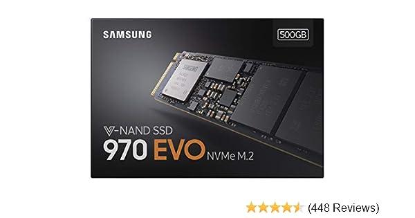 Samsung MZ-V7E500BW 970 EVO 500 GB V-NAND M.2 PCI Express Solid State Drive - Black