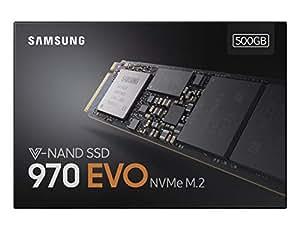 Samsung MZ-V7E500BW SSD 970 EVO, 500 GB, M.2, NVMe, Nero/Arancione