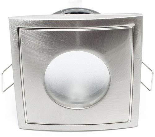 Foco empotrable para ducha, baño turco, sauna, entornos húmedos, cuadrado, IP65, estanco