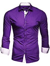 baf645e4a Kayhan Men´s Long Sleeve Casual Shirt Slim fit Easy Iron Modell - Twoface +
