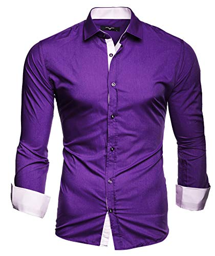 Kayhan Uomo Camicia, TwoFace Purple S
