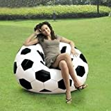 Intex Inflatable Giant Football Bean Bag And Free Air Hand Pump Without Beans (Black & White)
