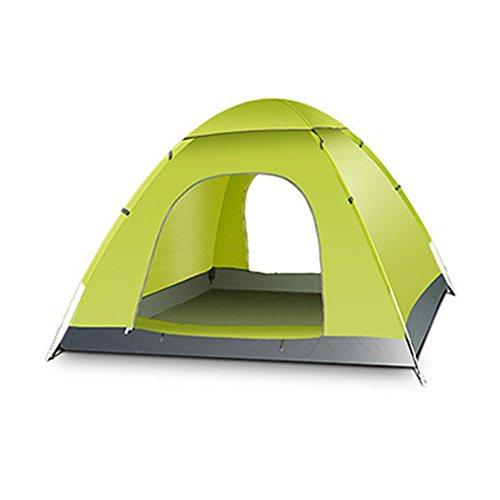 Blueidea® Esterna Automatica Tenda da Campeggio Velocità Aperto Tenda 3-4 Persona Impermeabile Antivento Lanciare Tenda de Spiaggia Pop Up (Verde)