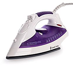 Russell Hobbs 18721 Steam Glide Non Stick Plate Steam Iron - Purple & White
