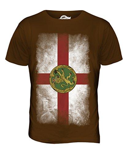 CandyMix Alderney Verblichen Flagge Herren T Shirt Braun