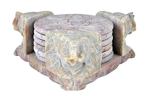 Designer-konsole-tabellen (Designer-Untersetzer von Hashcart für Heiß- und Kaltgetränke wie Kaffee und Tee, aus geschnitztem Marmor, Stein, STYLE 2)