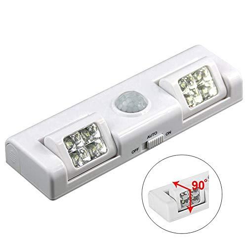 GJ-RNG 90 ° LED Schranklicht, Bewegungsempfindliches Schlafzimmer-Nachtlicht, Für Kleiderschrank, Treppe (2 Stück) -