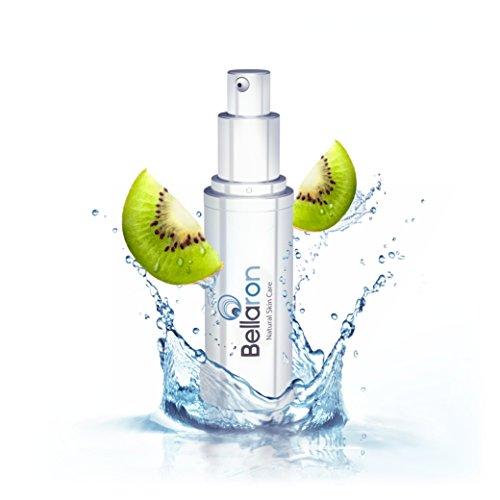 Bellaron - Veganes und natürliches 3-fach Hyaluron Serum mit Kiwi-Hydrolat und Zuckertang-Extrakt für Gesicht, Hals u. Dekolleté. Anti-Aging für alle Hauttypen Fach -