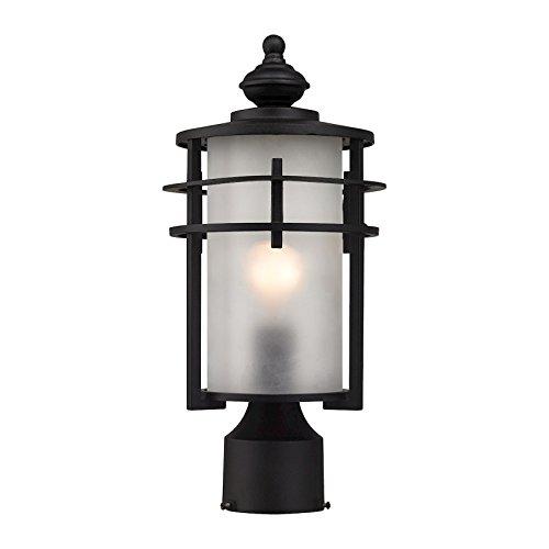 Meadowview 1 Light Outdoor Post Lantern In Matte Black - Matte Black Outdoor Post