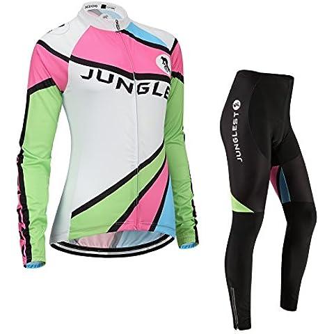[Cuscino 3D][Tipo:Set taglie:M] Ciclismo antivento traspirante traspirazione gilet Jerseys prestazioni