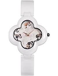 Barbie W50260L.01A Reloj de Pulsera para mujer de forma de trébol de cuatro hojas