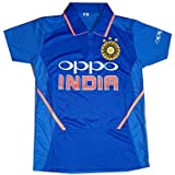 STYLEXA Unisex Polyester Team India Tshirt ICC World Cup 2019 for Kids Boys Men and Women (Blue)