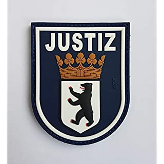 ATG sleeve badge JUSTIZ Berlin 3D rubber patch, coloured, 90 x 72 mm