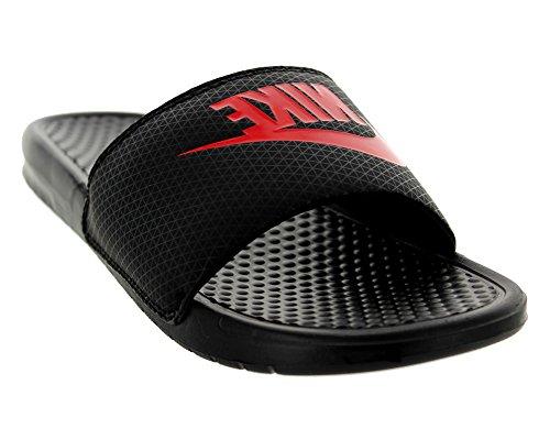 Nike Benassi JDI, Ciabatte Uomo Black/Challenge Red