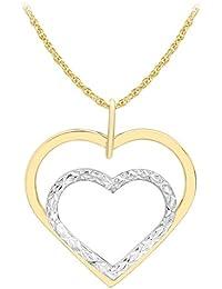 Carissima Gold 2.40.6694 - Collar para mujer con oro bicolor de 9 quilates (375/1000), 46 cm