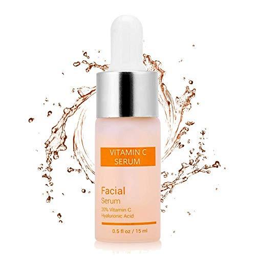 Vitamin C Serum für Gesicht 24k Gold Anti-Aging feuchtigkeitsspendende Hautpflege Hyaluronsäure Whitening erhellen Schönheit