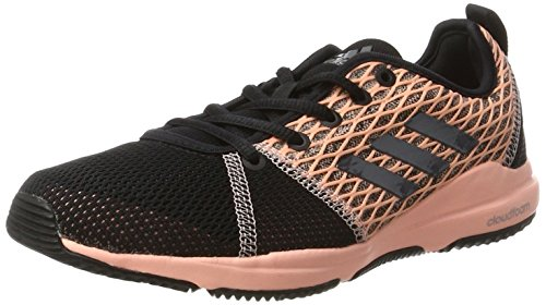 adidas Arianna Cloudfoam, Chaussures de Fitness Femme Multicolore (Core Black/Night Metallic/Haze Coral)