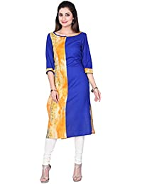 Fashion Parakeet | Blue and Yellow Halfs Kurta