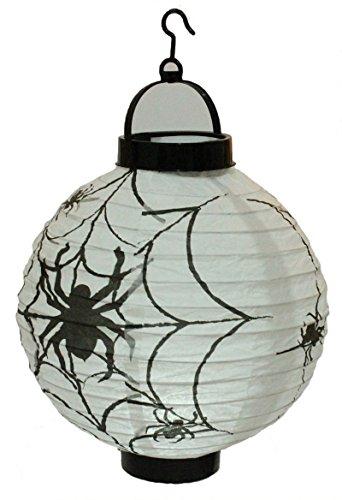 lloween Dekorationen Papier Laternen mit LED-Licht Spider ()